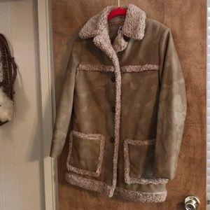 Vegan Suede Sherpa Jacket